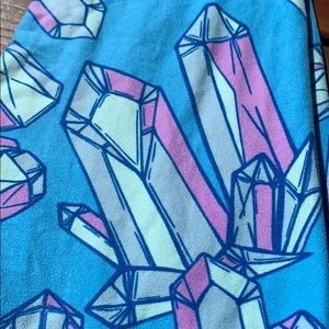 LuLaRoe One Size Leggings - Blue Crystal Gems 💎